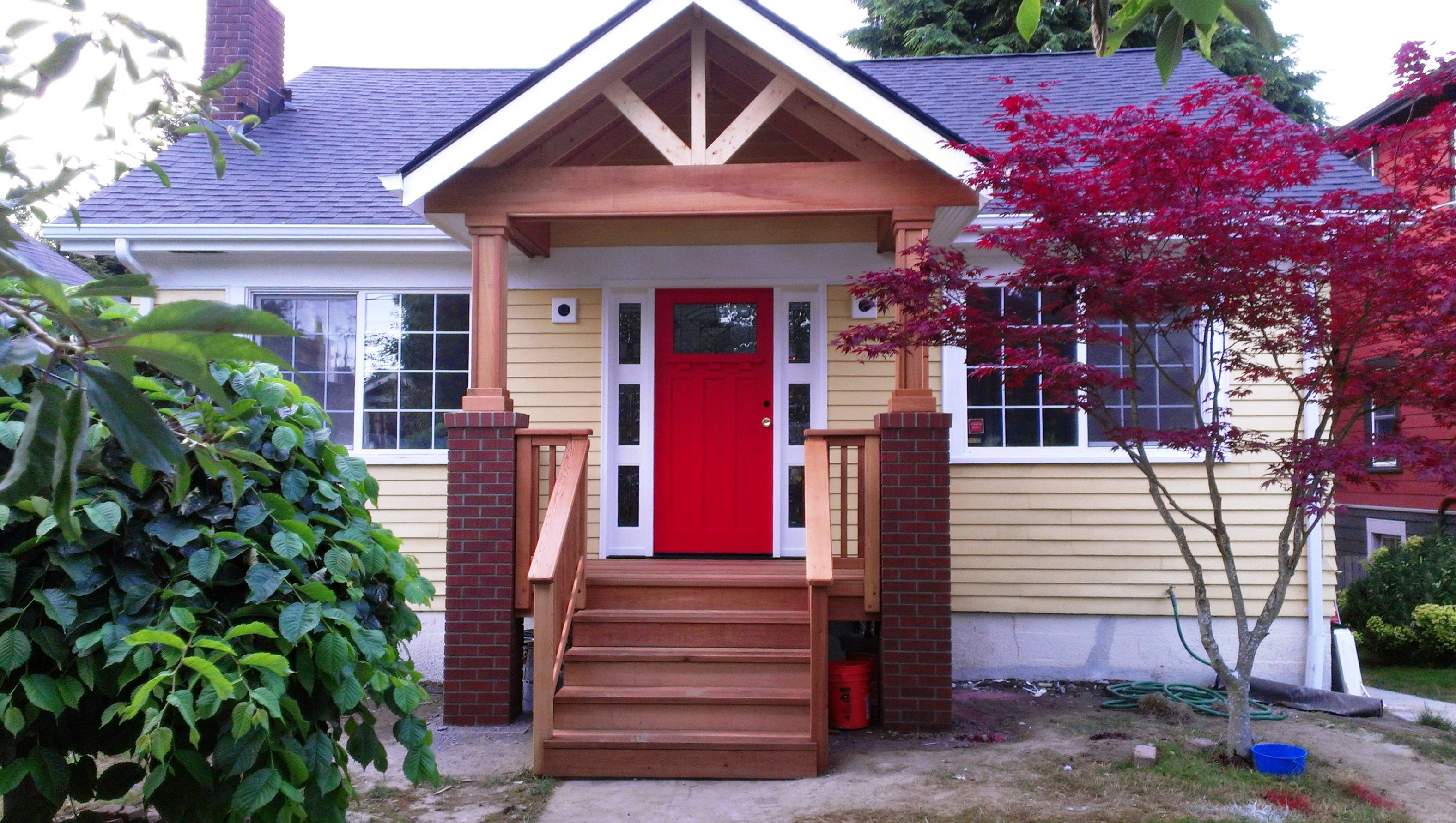 adding front porch to brick house decoto adding porch brick house home design ideas