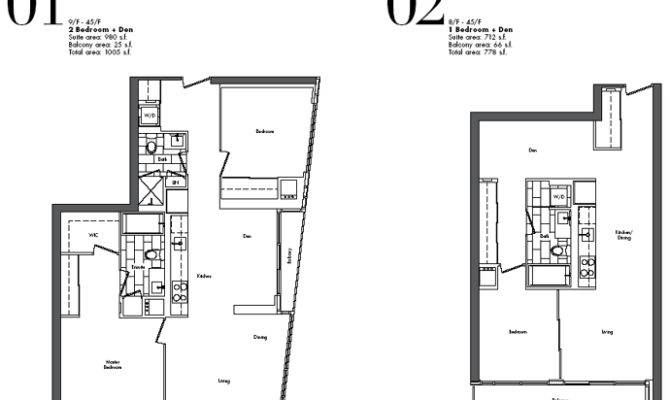 Adex Developers Studios Bedroom Floor Plans Spectra Toronto