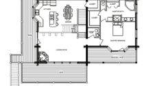Alpine Chalet Log Home Floor Plan Main