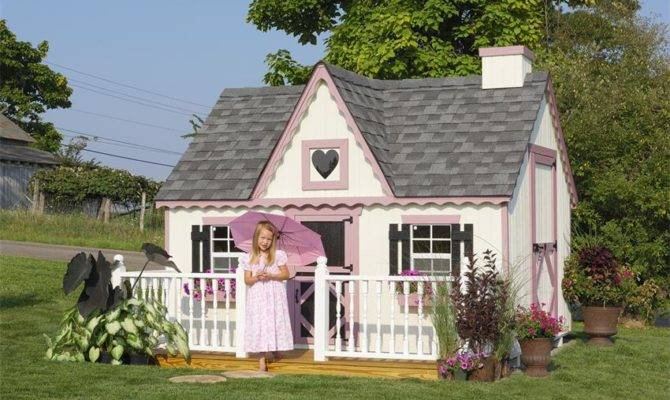 Amish Handcrafted Victorian Playhouse