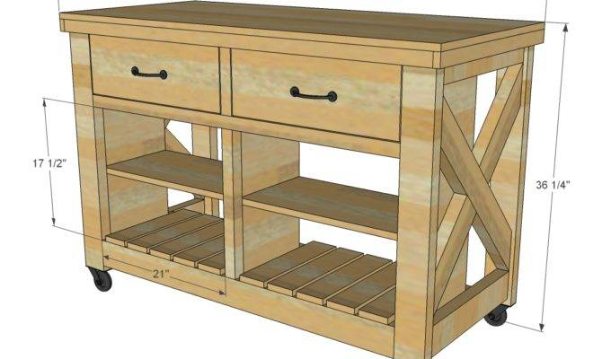 Ana White Build Rustic Kitchen Island Double Easy