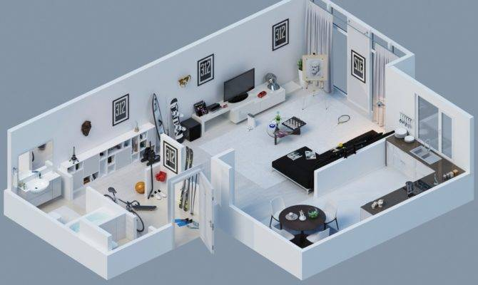 Apartment Designs Shown Rendered Floor Plans