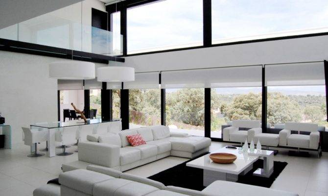 Architecture House Modern Open Plan Living Room Decor