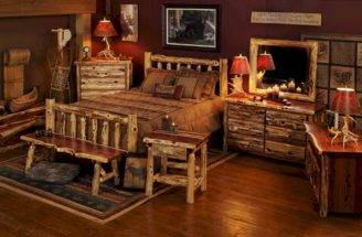Aromatic Red Cedar Log Bed Bedroom Furniture