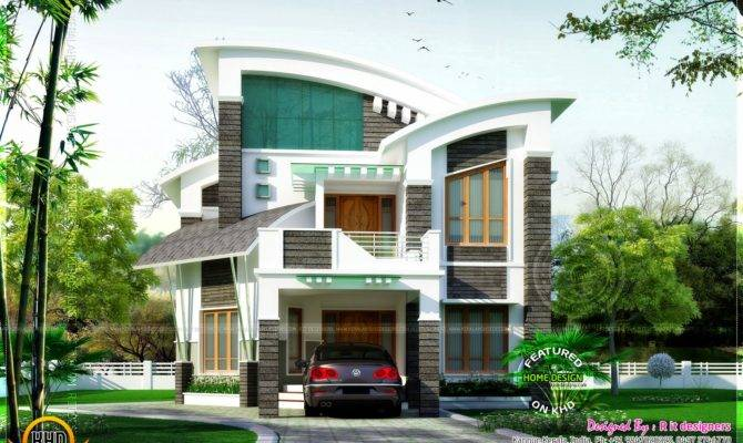 Awesome Unique House Contemporary Style Home Kerala Plans