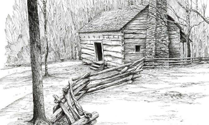 Back Bob George Art Drawings Landscape