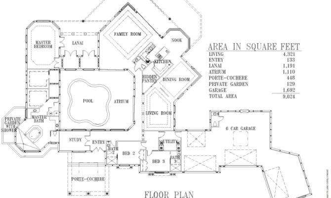 Back Custom Luxury Home Floor Plans