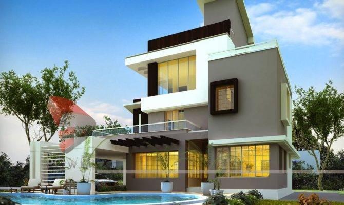 Back Pix Ultra Modern House Plans