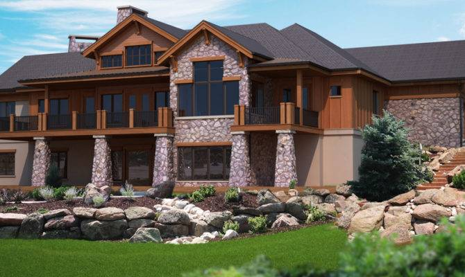Basement House Plans Rear Classic Home Walk Out