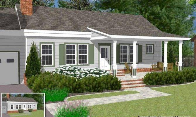 Basic Ranch Home Front Porch Ideas Pinterest