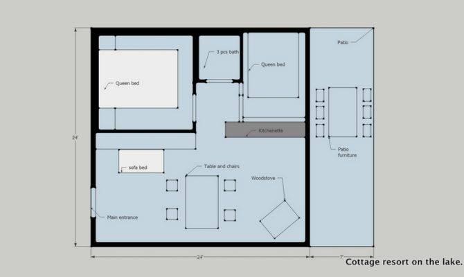 Bdr Cottage Floor Plan Lakefront Resort Ontario