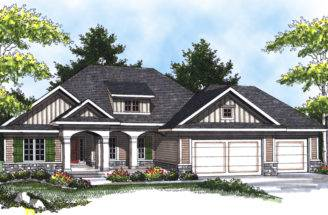 Beale Arts Crafts Home Plan House Plans More