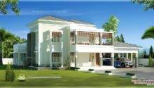 Beautiful Double Storey Modern Villa Exterior Indian House Plans