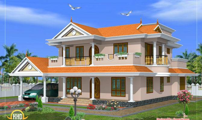 Beautiful Storey House Design Green Homes Thriuvalla
