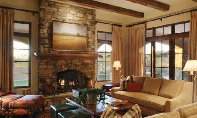 Bed Bedroom Fireplace Design
