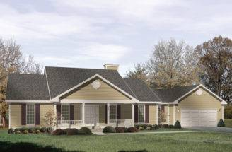 Bedford Heights Ranch Home Plan House Plans More