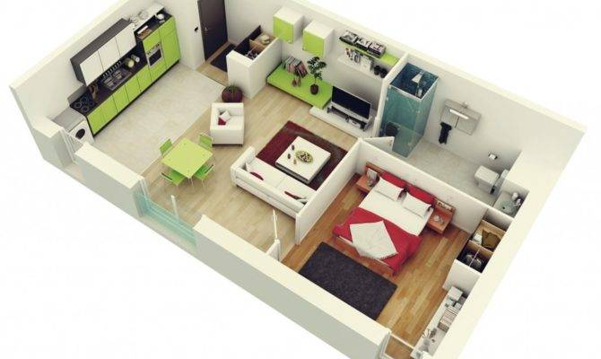 Bedroom Apartment House Plans Enjoyed