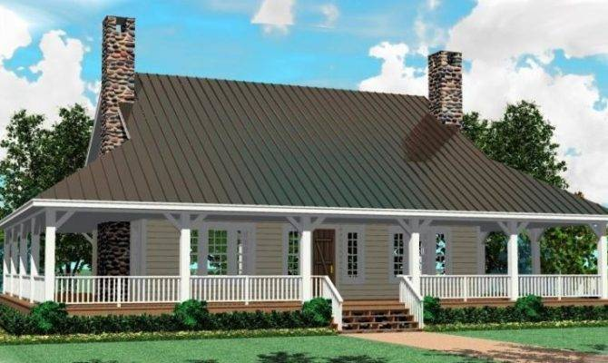 Bedroom Bath Southern House Plan Wrap Around Porch
