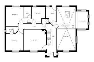 Bedroom Dormer Bungalow Plans Aconbury