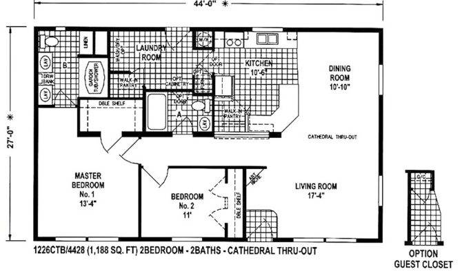 wide mobile home floor plans bath 159236 670x400 4 bedroom double wide