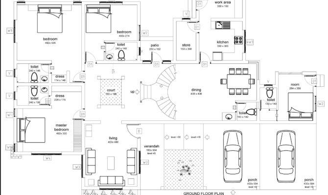 Bedroom Floor House Plans Also Open