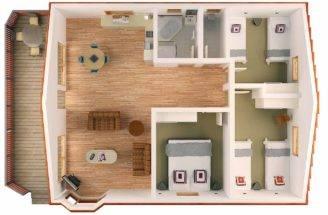 Bedroom Floor Plan Bungalow Bungalows
