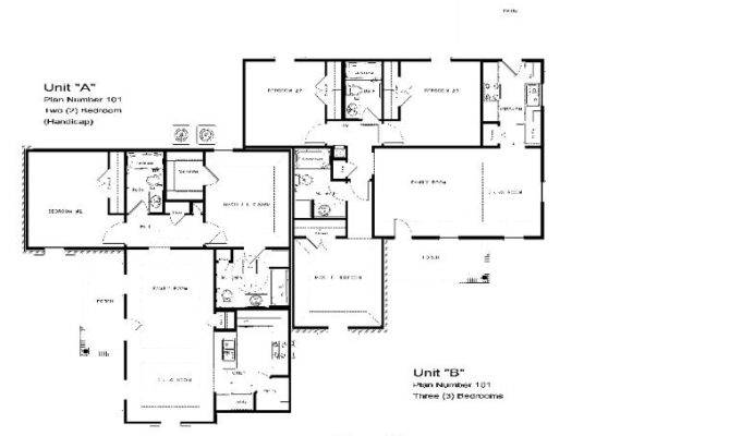 Bedroom Handicap House Plans Pic Fly