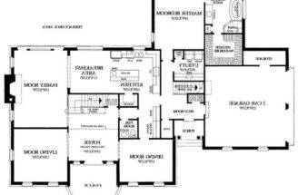 Bedroom House Floor Plan