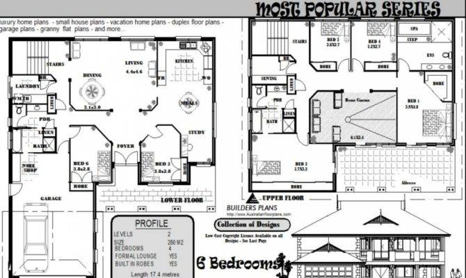 Bedroom House Floor Plans Federation Style