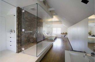 Bedroom Ideas Attic Shower Bed Design