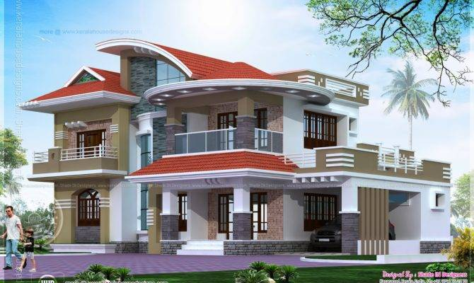 Bedroom Luxury House Kasaragod Indian Plans