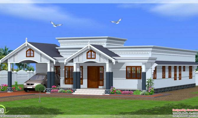 Bedroom Single Floor Kerala House Plan Design Idea