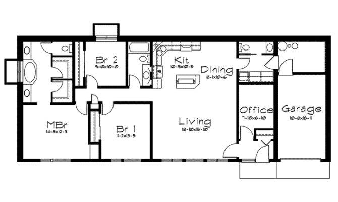 Berm Home Plan First Floor House Plans More