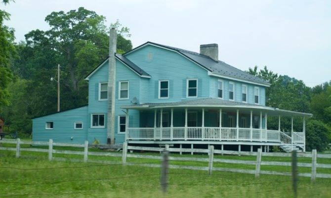 Big Blue Farm House Dream Home Ideas Pinterest
