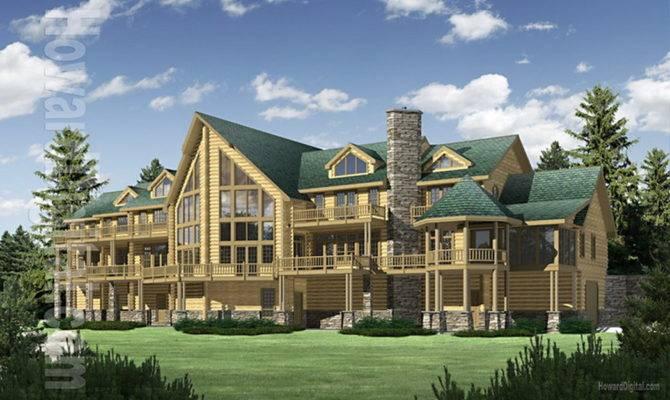Big Sky Log Home Plan Floor Plans Homes House