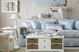 Blue Living Room Cottage Look Decorating Tips Making