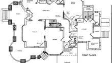 Blueprint First Floor Second Third
