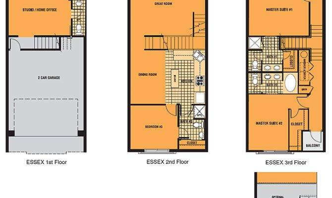 Brownstone Floor Plans Square Contemporary Row Homes