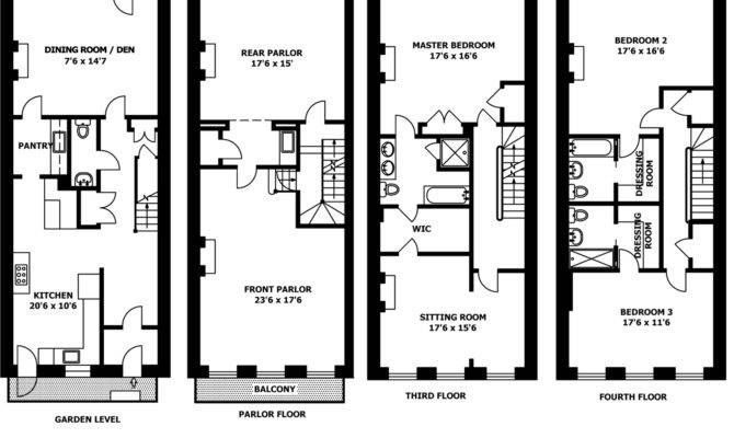 Brownstone Row House Floor Plans Kitchen Inspiration