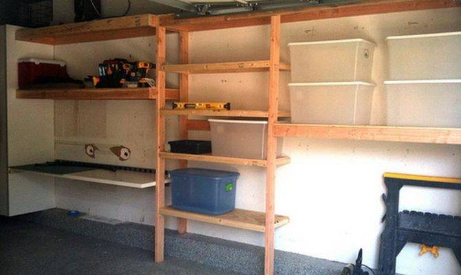 Build Elevated Wood Shelving Garage Pdf