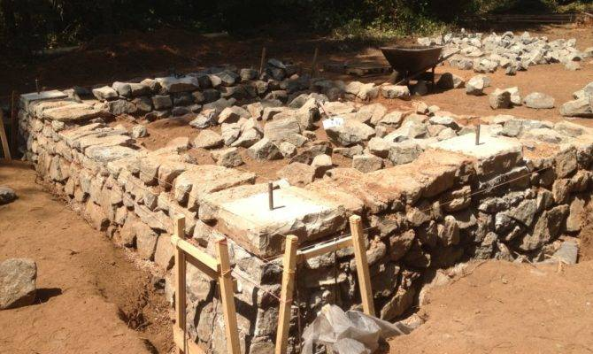 Build Stone Foundation Construction Diy Projects