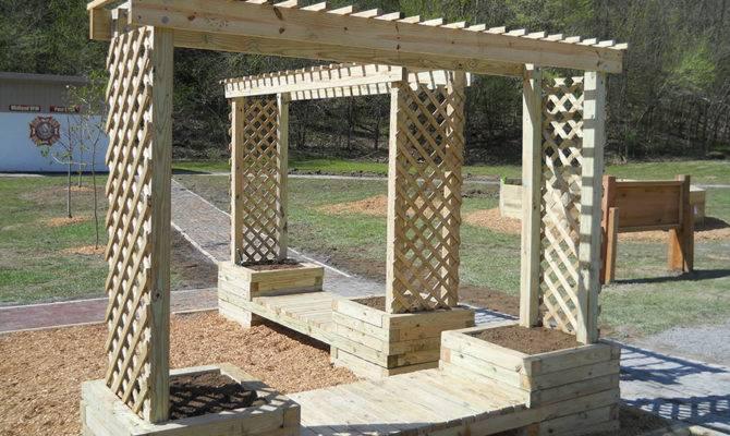 Build Trellis Planter Bench Kaboom