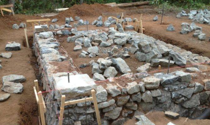 Building Stone Wall Mortar Build