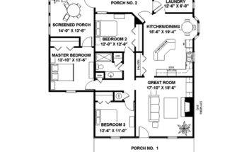 Cabin Cottage House Plan First Floor Plans