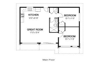 Cabin Floor Plans Bedrooms Loft Joy Studio Design