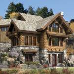 Cabins Plans Targhee Log Cabin Home Rustic Luxury