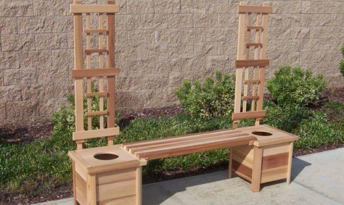 Cal Planter Bench Trellis