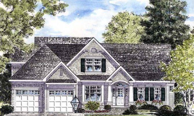 Cape Cod Coastal Colonial Cottage Country House Plan
