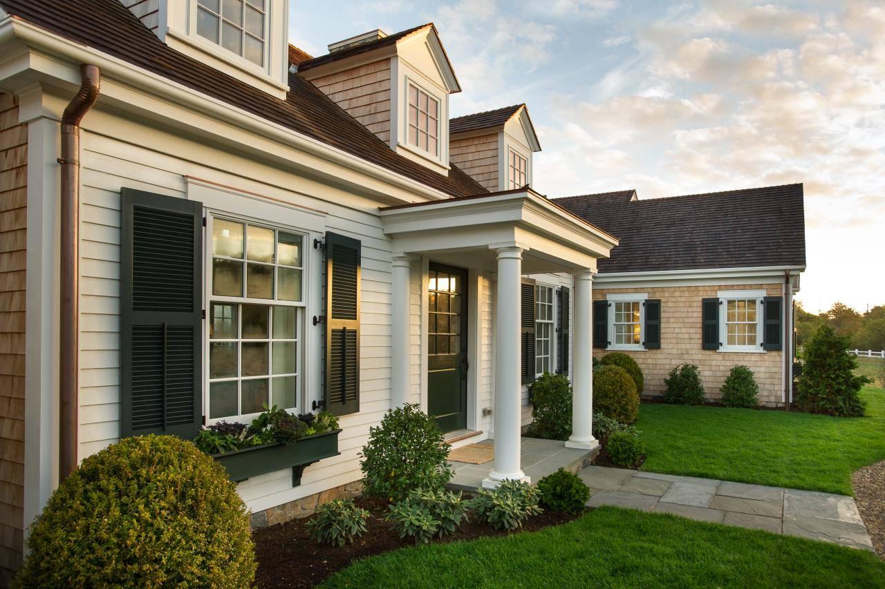 Cape cod front porch ideas - Cape Cod Home Covered Portico Hgtv Dream Front