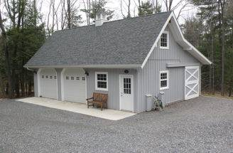 Car Barn Style Gambrel Roof Garage Loft Plans